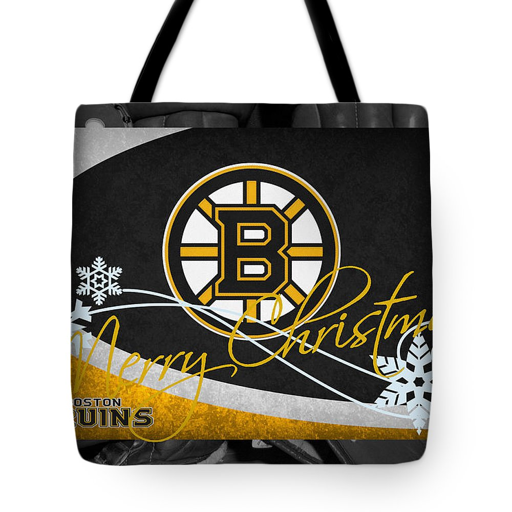 Bruins Tote Bag featuring the photograph Boston Bruins Christmas by Joe Hamilton