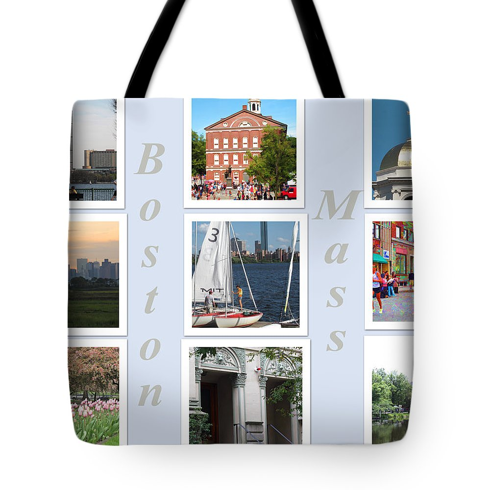 Boston Tote Bag featuring the photograph Boston Collage by Barbara McDevitt