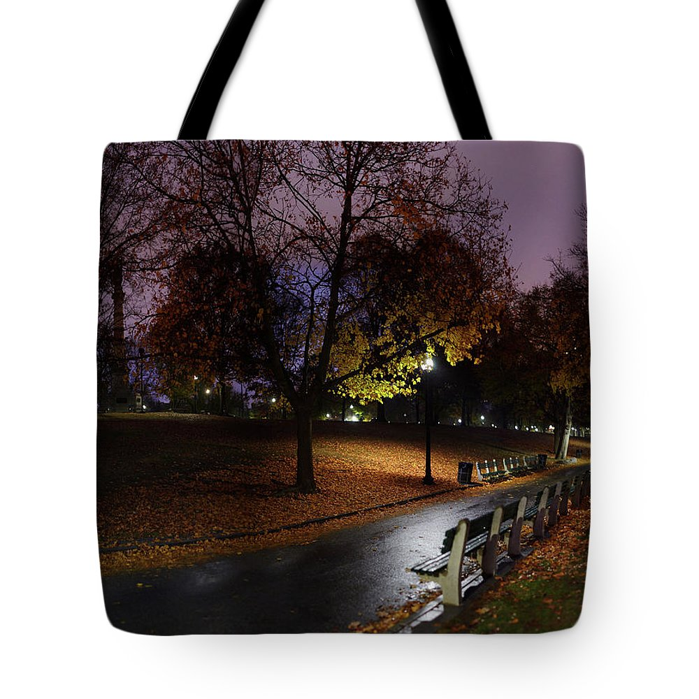 Tranquility Tote Bag featuring the photograph Boston Common Park by By Yuri Kriventsov