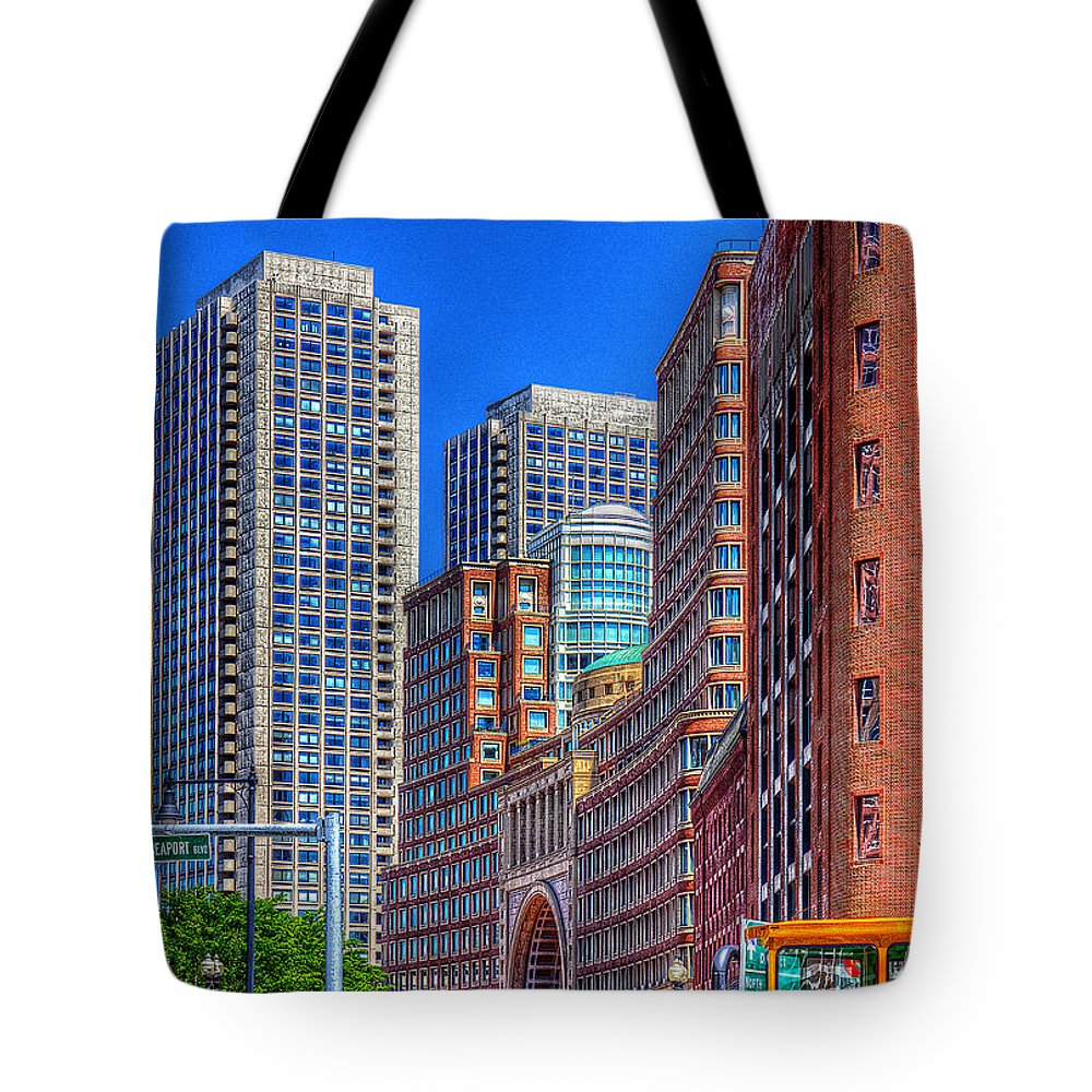 Hdr Tote Bag featuring the photograph Boston Financial District by Rick Mosher