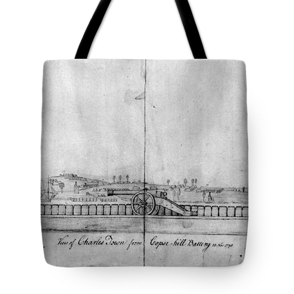 1778 Tote Bag featuring the photograph Boston Harbor, 1778 by Granger