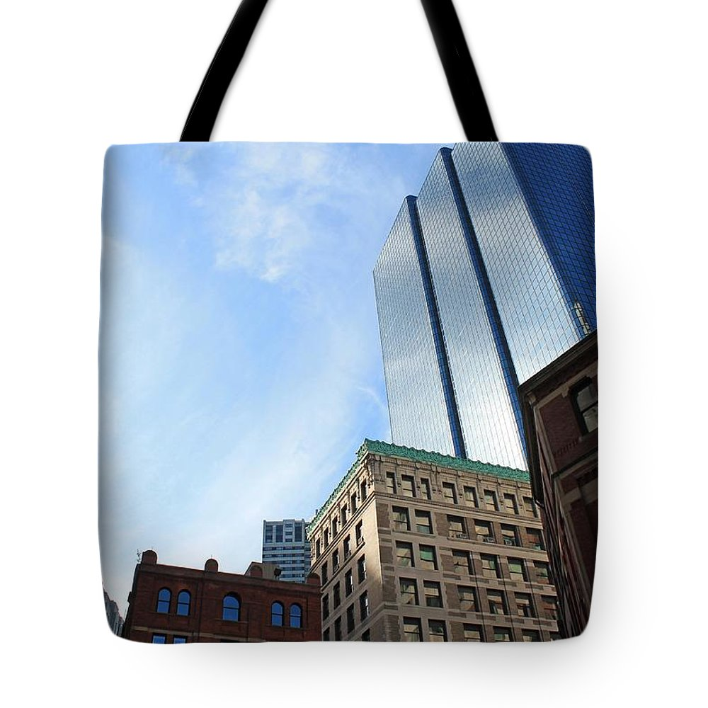 Architecture Tote Bag featuring the photograph Boston Ma Architecture 2 by Michael Saunders
