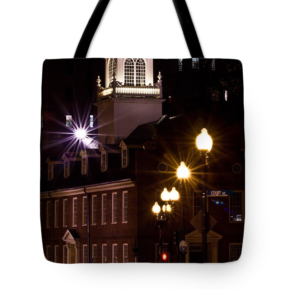 Boston Tote Bag featuring the photograph Boston Old City Hall by John McGraw