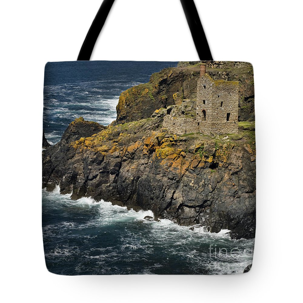 Coast Tote Bag featuring the photograph Botallack Cornwall by David Lichtneker