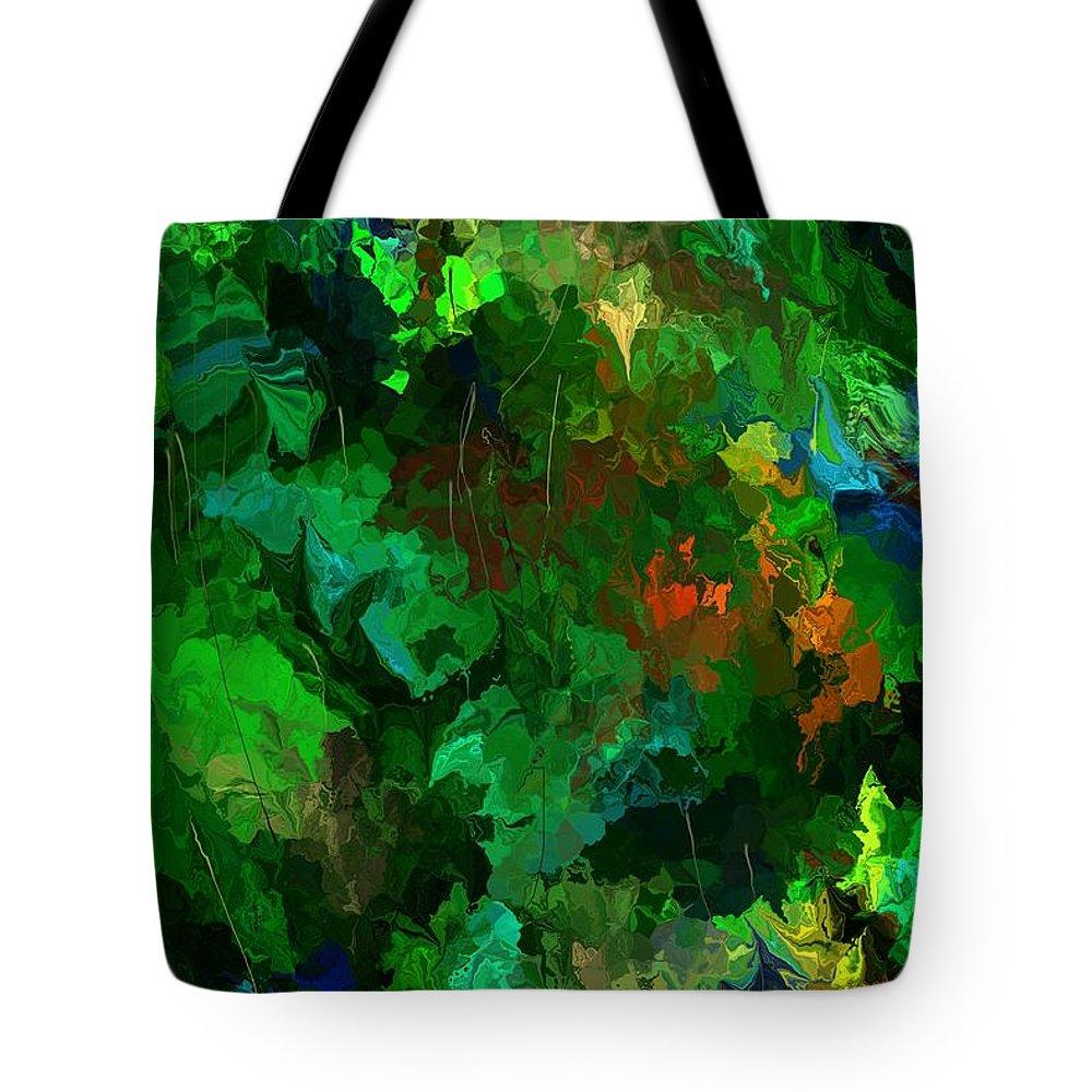 Fine Art Tote Bag featuring the digital art Botanical Fantasy 110413 by David Lane