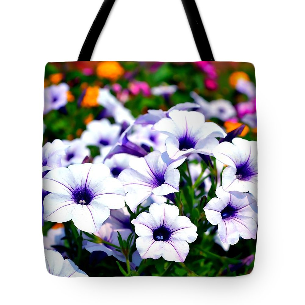 Flowers Tote Bag featuring the photograph Botanical Medley by Deena Stoddard