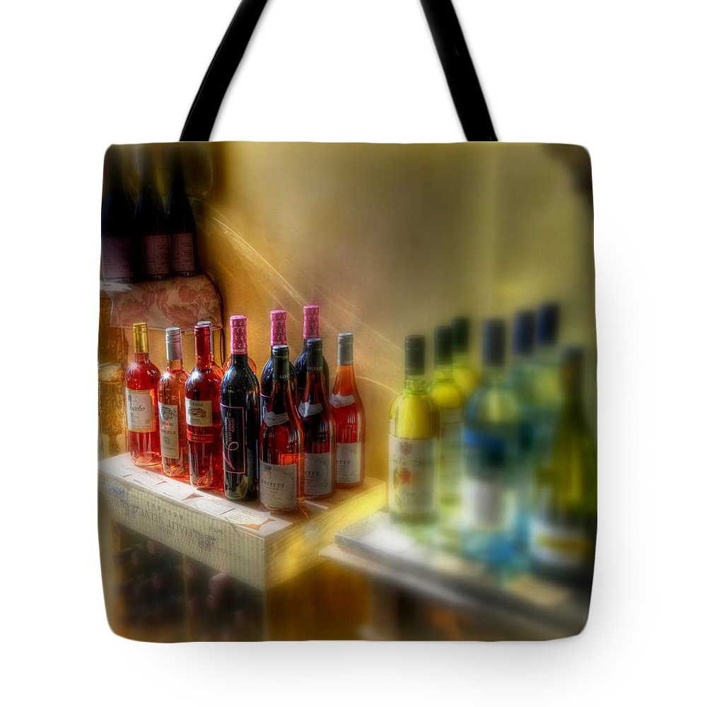 New York Tote Bag featuring the photograph Bottle Of Wine by Jeff Watts