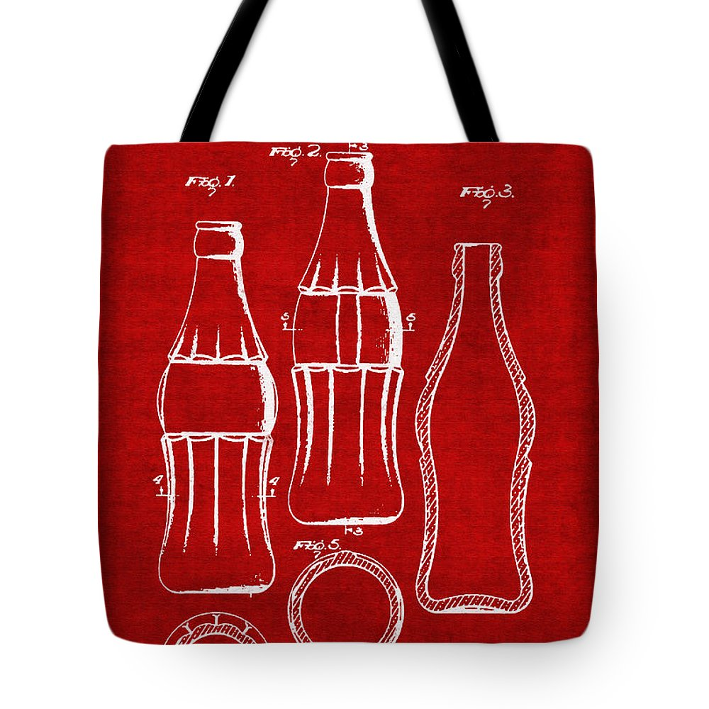 Retro Revival Tote Bag featuring the photograph Bottle Support Patent Drawing From 1937 3 by Samir Hanusa