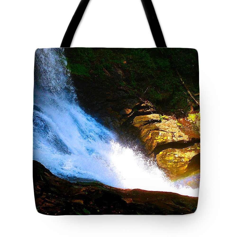 Landscape Tote Bag featuring the photograph Bottom Of Dry Falls I by Robert J Sadler