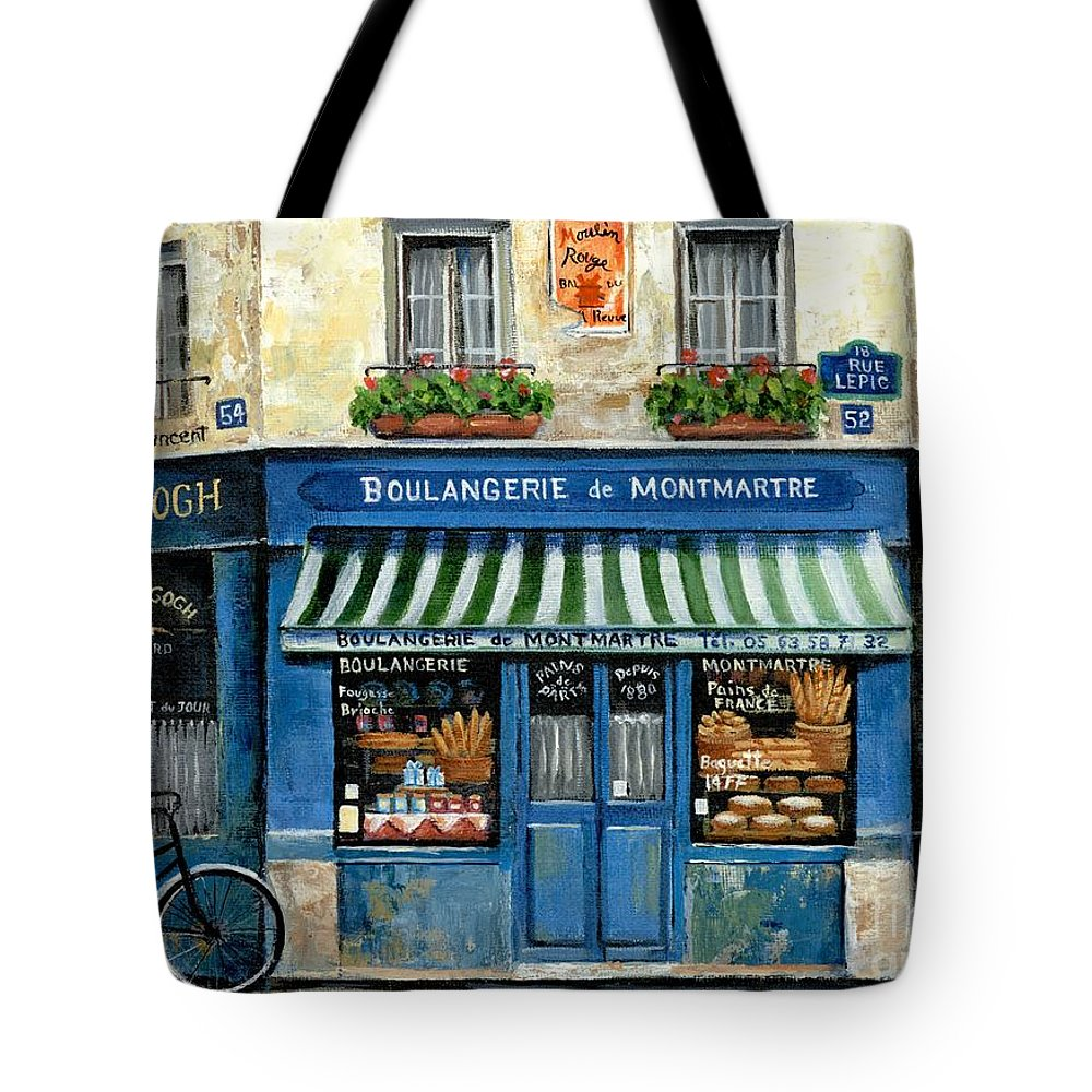 Europe Tote Bag featuring the painting Boulangerie De Montmartre by Marilyn Dunlap