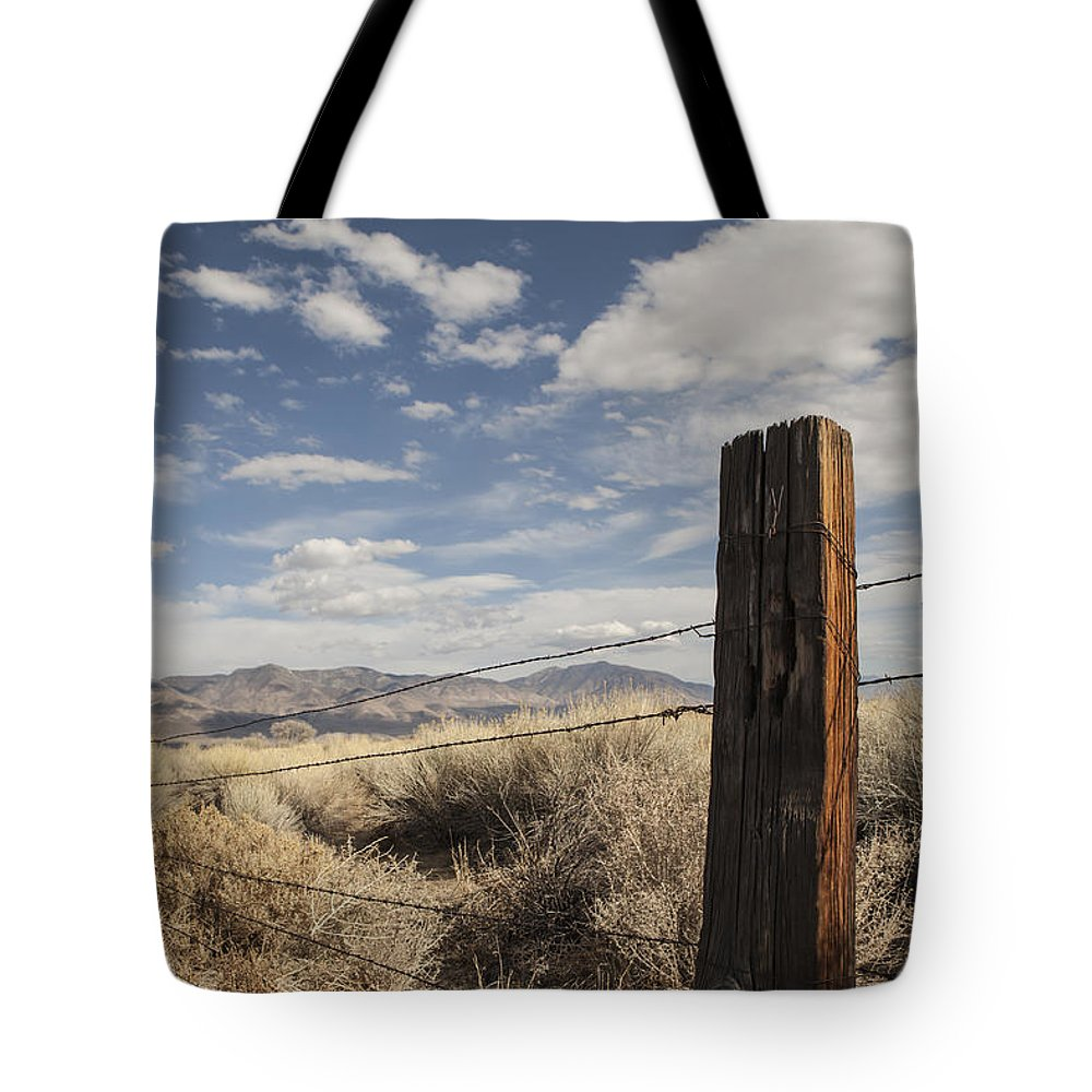 Barbed Wire Tote Bag featuring the photograph Boundaries by Michele Cornelius