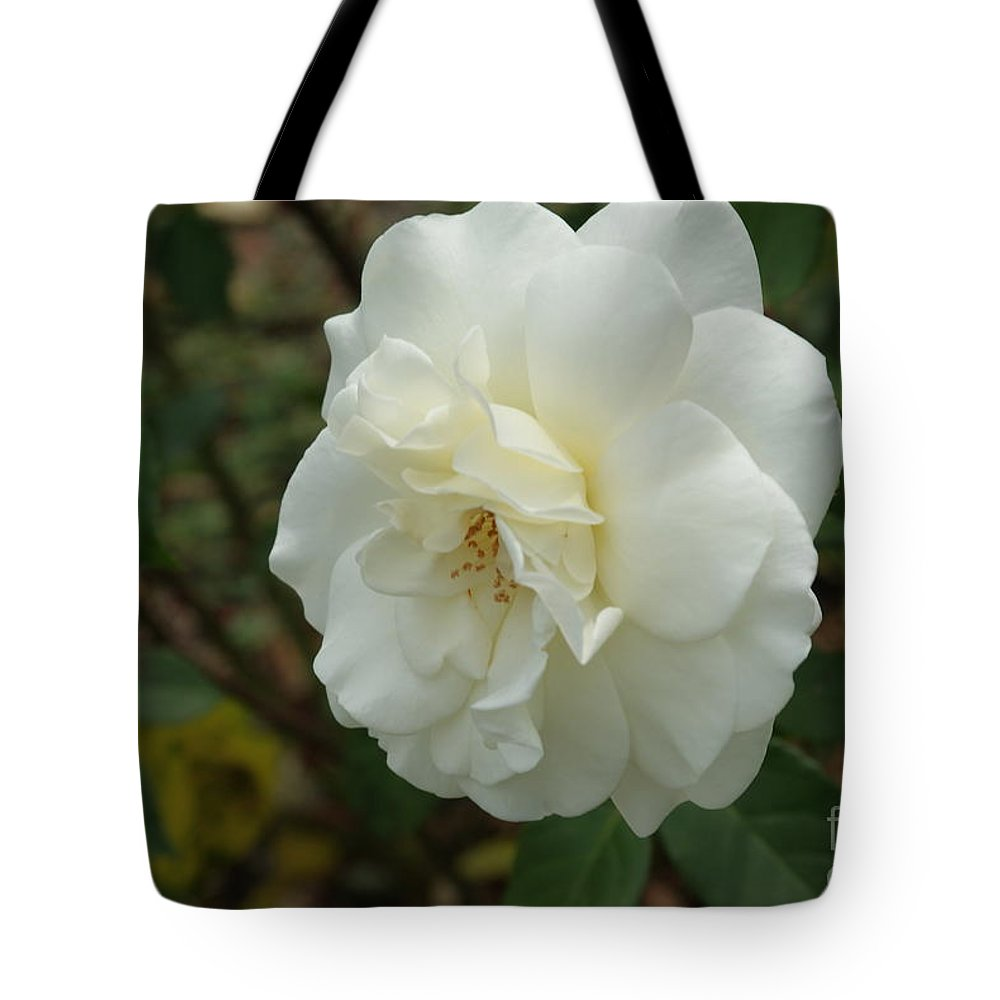 Big Tote Bag featuring the photograph Bountiful White Rose... by Rob Luzier