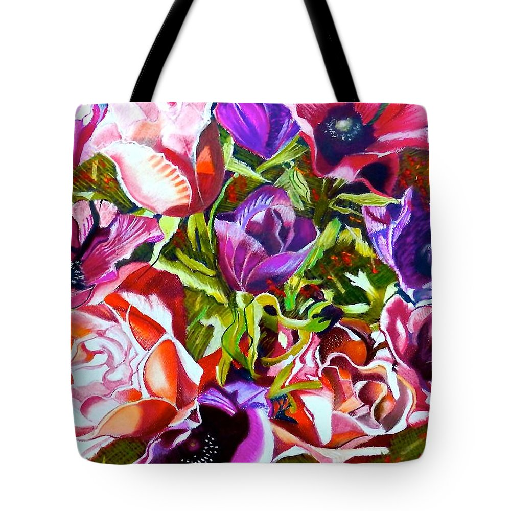 Flowers Tote Bag featuring the painting Bouquet Of Flowers by Susan Robinson