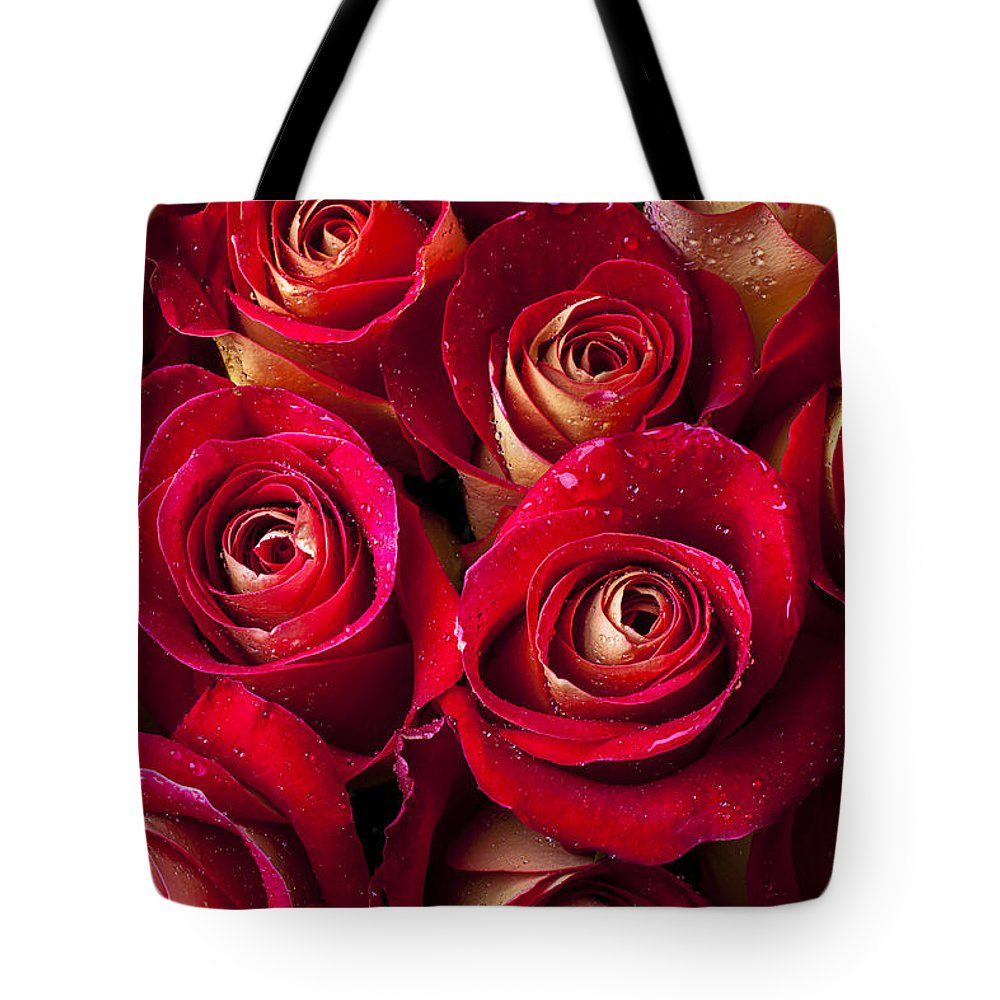 Boutique Roses Tote Bag featuring the photograph Boutique Roses by Garry Gay