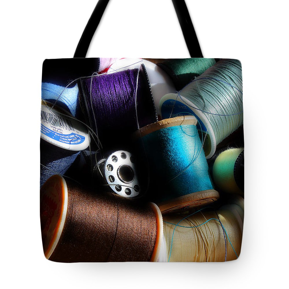 Thread Tote Bag featuring the photograph Bowl Of Thread by Michael Eingle