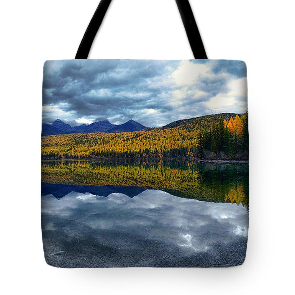 Bowman Tote Bag featuring the photograph Bowman Lake Quietude by Renee Sullivan