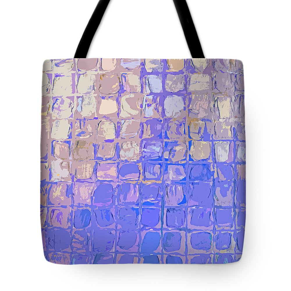 Featured Tote Bag featuring the digital art Boxes In Purple And Pink by Paulette B Wright