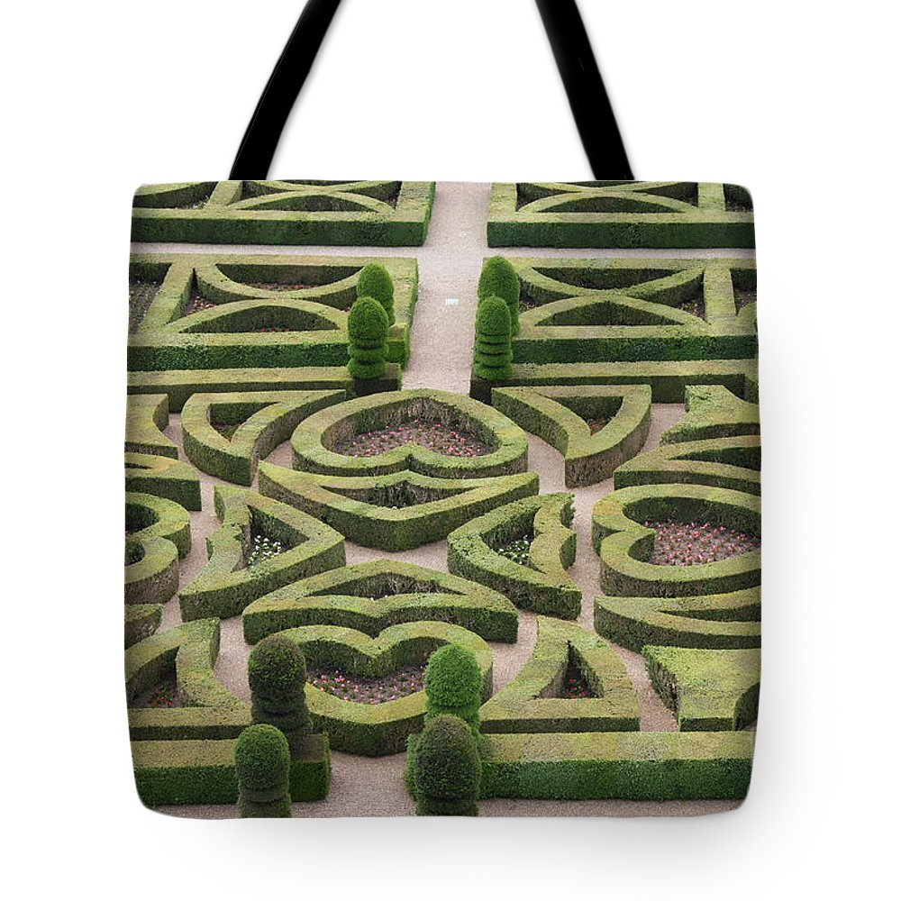 Garden Tote Bag featuring the photograph Boxwood Garden - Chateau Villandry by Christiane Schulze Art And Photography