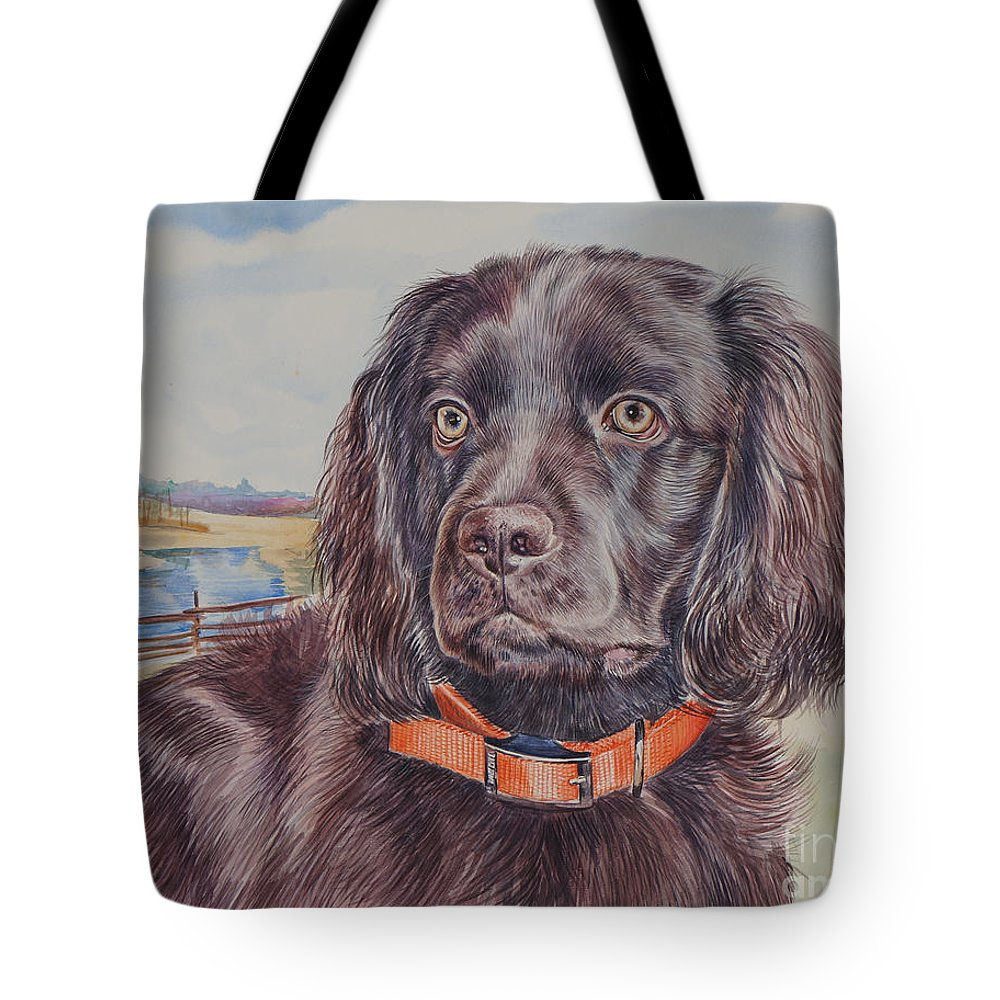 Boykin Spaniel Tote Bag featuring the painting Boykin Spaniel by Gail Dolphin