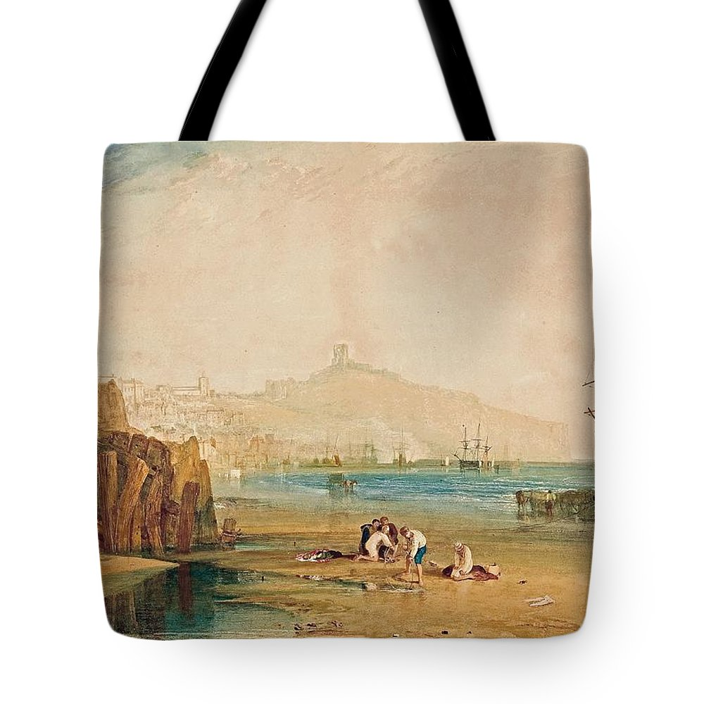 1810 Tote Bag featuring the painting Boys Catching Crabs by JMW Turner
