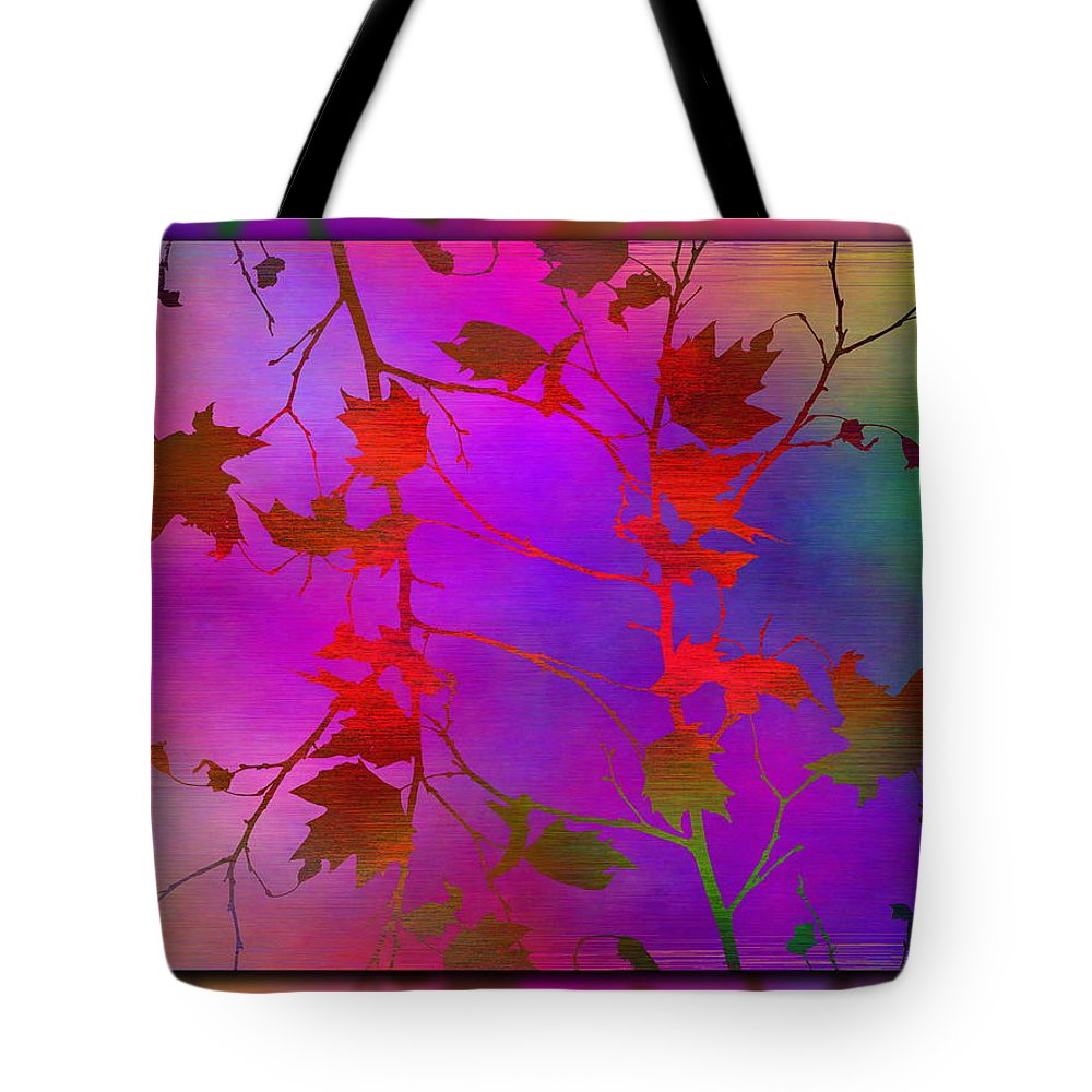 Tree Tote Bag featuring the digital art Branches In The Mist 13 by Tim Allen