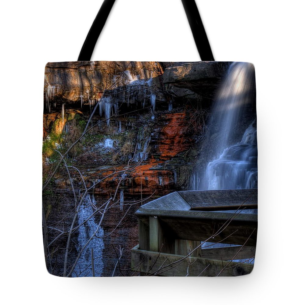 Falls. Waterfall Tote Bag featuring the photograph Brandywine Falls by David Dufresne