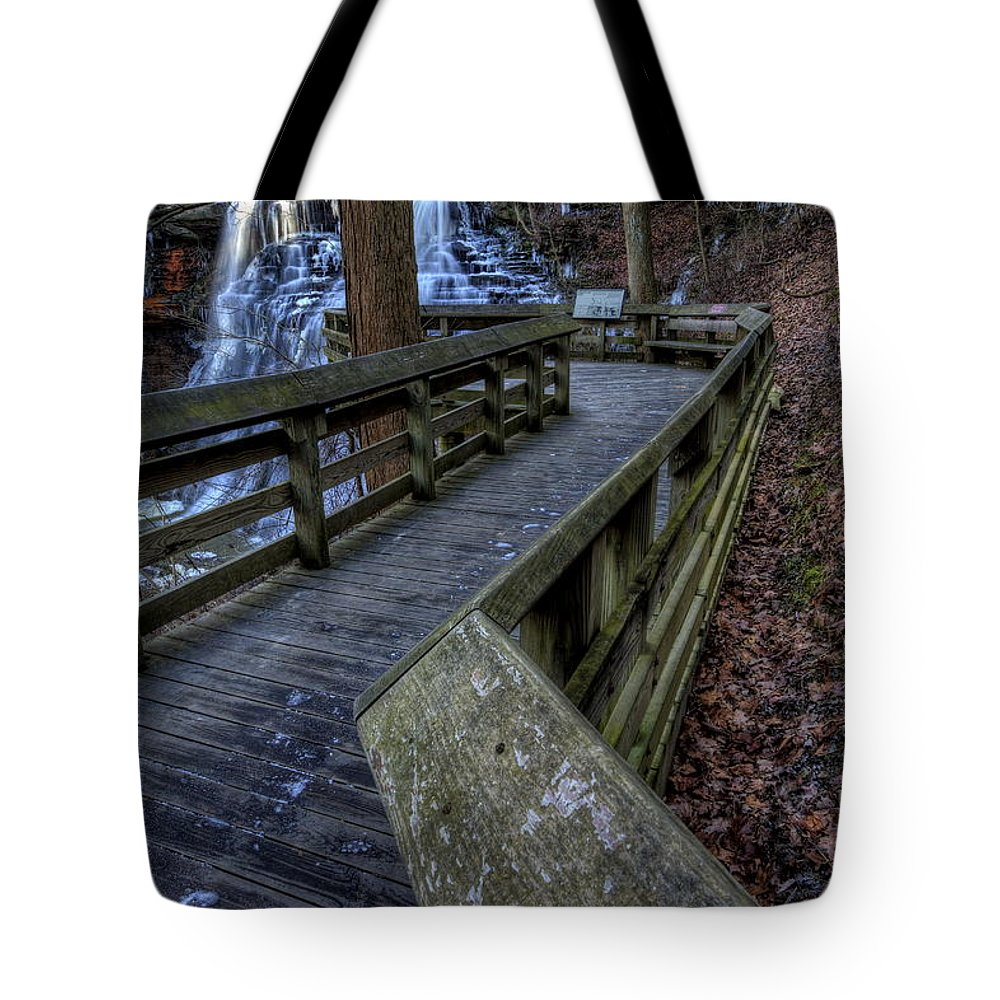 Overlook Tote Bag featuring the photograph Brandywine Falls Overlook by David Dufresne