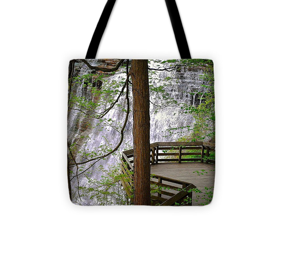 Waterfall Tote Bag featuring the photograph Brandywine Falls by Frozen in Time Fine Art Photography