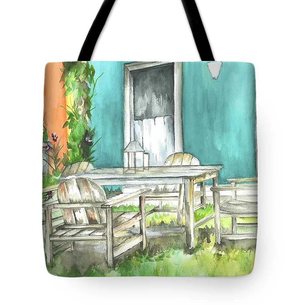 Brazil Tote Bag featuring the painting Brazil 3 by Judith Rice