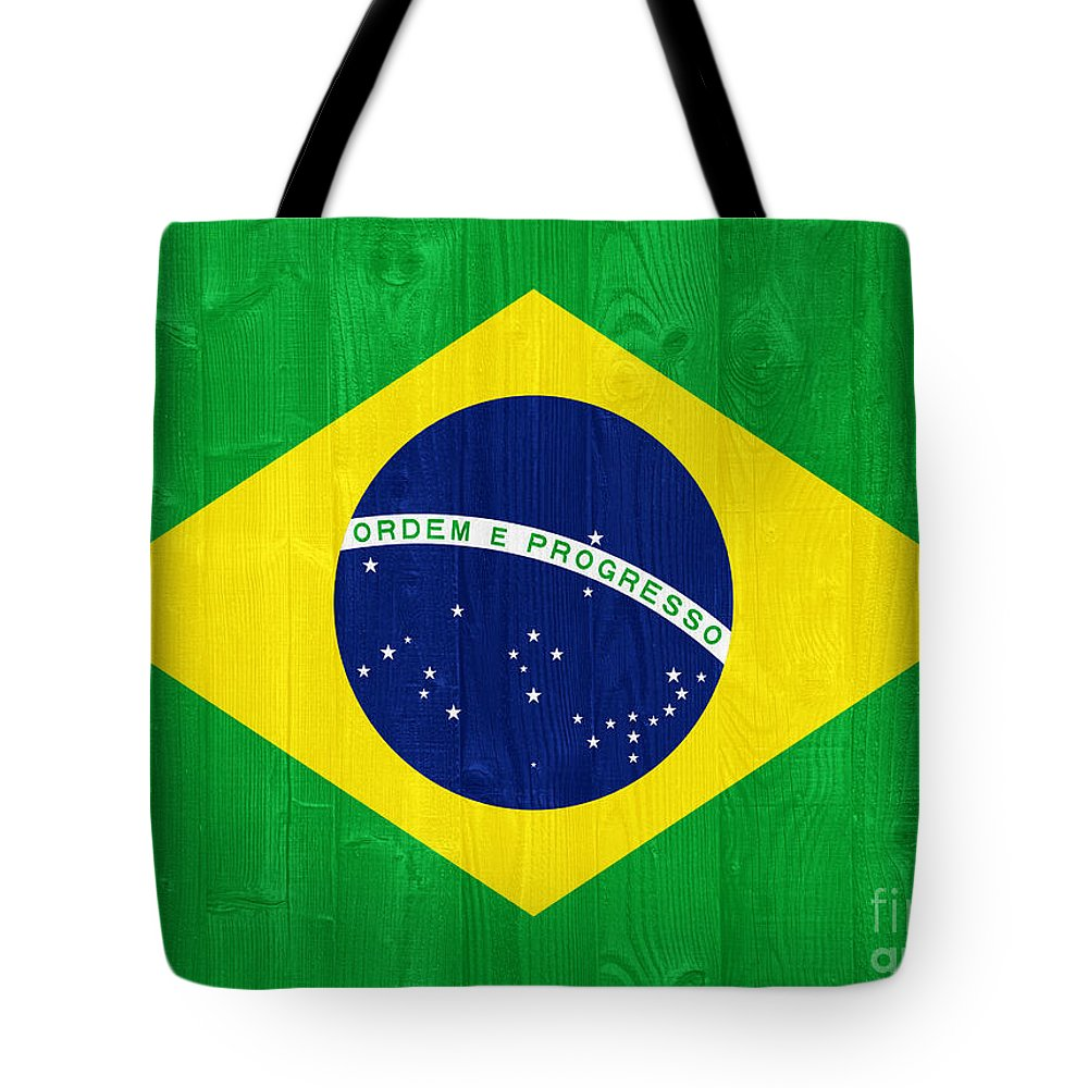 Brazil Tote Bag featuring the photograph Brazil Flag by Luis Alvarenga
