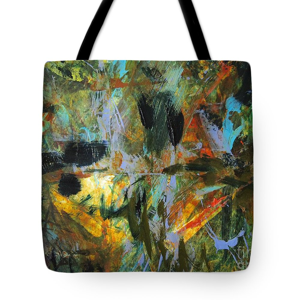 Abstract Oil Painting Tote Bag featuring the painting Brazil by Nancy Kane Chapman