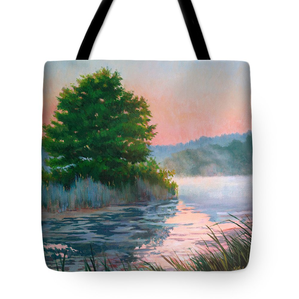Impressionism Tote Bag featuring the painting Break Of Day by Keith Burgess