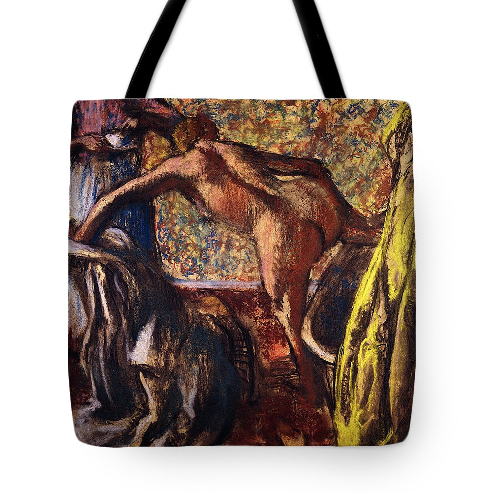 Apron Tote Bag featuring the painting Breakfast After The Bath Le Petit Dejeuner Apres Le Bain by Edgar Degas
