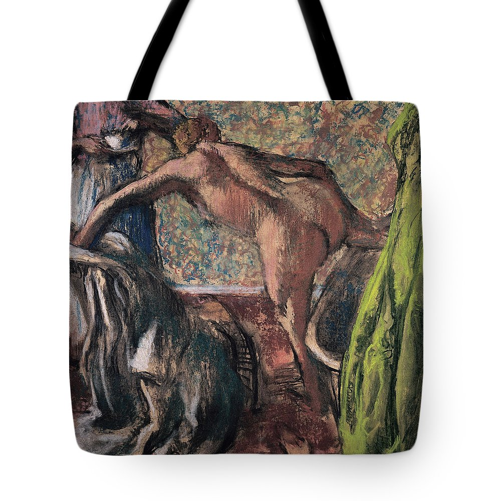 Edgar Degas Tote Bag featuring the painting Breakfast After The Bath.the Bath by Edgar Degas