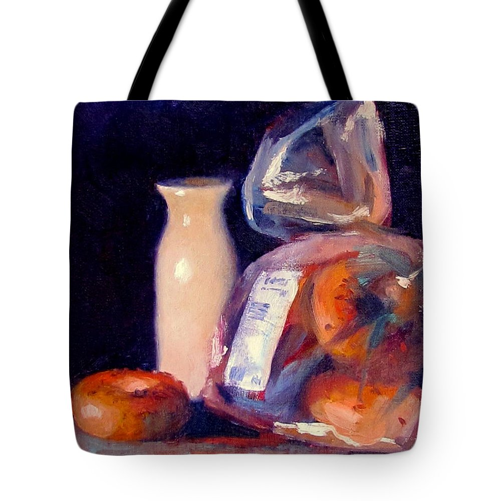 Milk Tote Bag featuring the painting Breakfast by Dianne Panarelli Miller