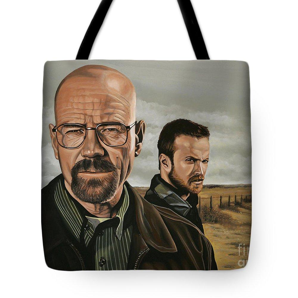 Breaking Bad Tote Bag featuring the painting Breaking Bad by Paul Meijering