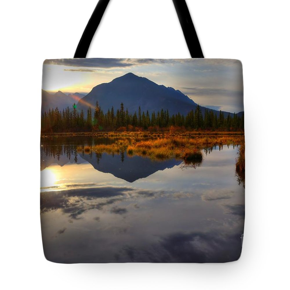 Banff National Park Tote Bag featuring the photograph Breaking Dawn by James Anderson
