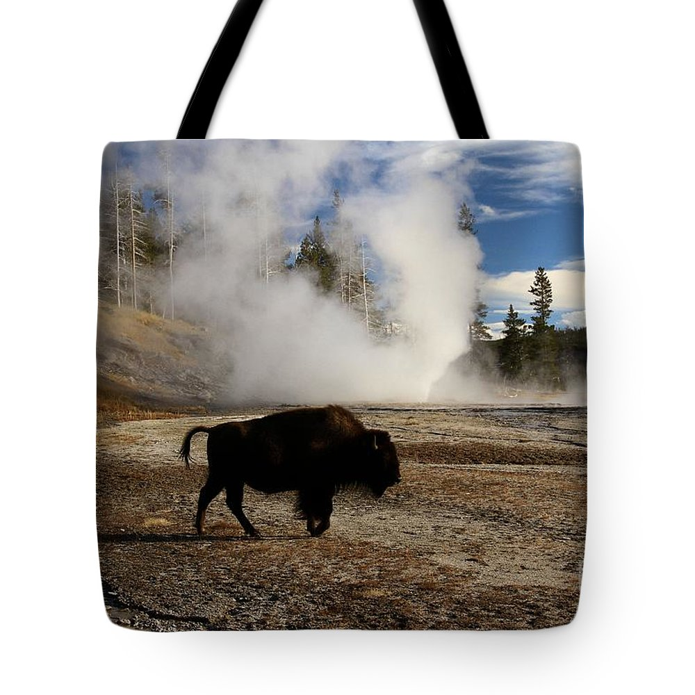 Vent Geyser Tote Bag featuring the photograph Breaking The Rules by Adam Jewell