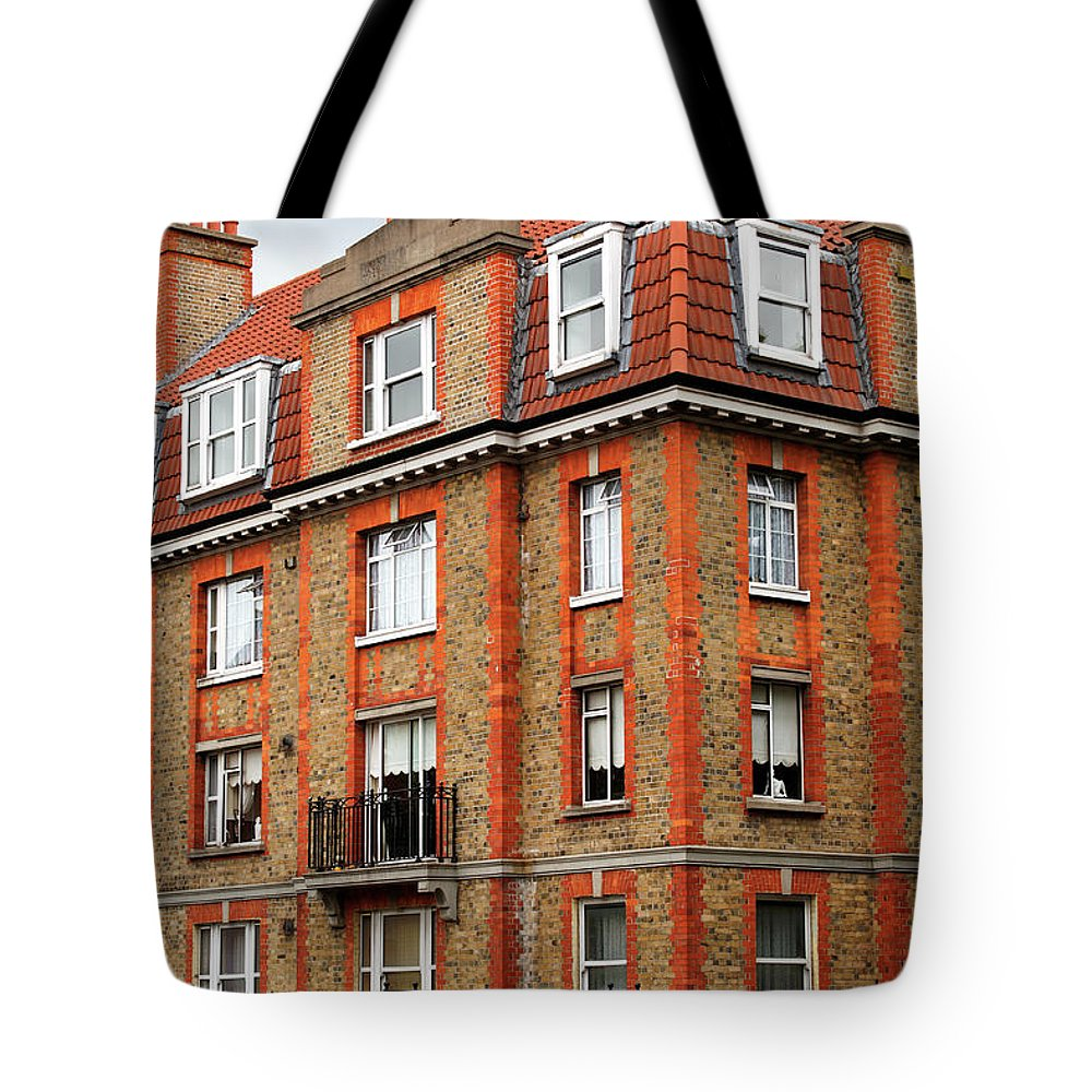 Dublin Tote Bag featuring the photograph Brick Building In Dublin by Mammuth