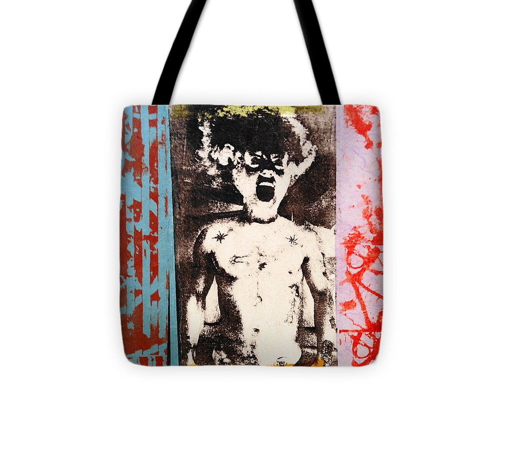 Gay Male Art Tote Bag featuring the mixed media Bride Of Frankenstein by Carmine Santaniello