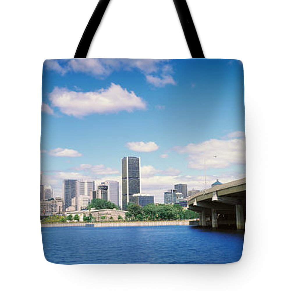 Photography Tote Bag featuring the photograph Bridge Across A Canal, Lachine Canal by Panoramic Images