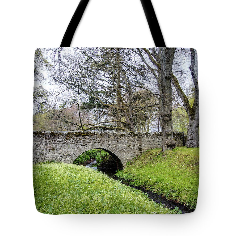 Huntly Tote Bag featuring the photograph Bridge At Huntly Castle - 1 by Paul Cannon