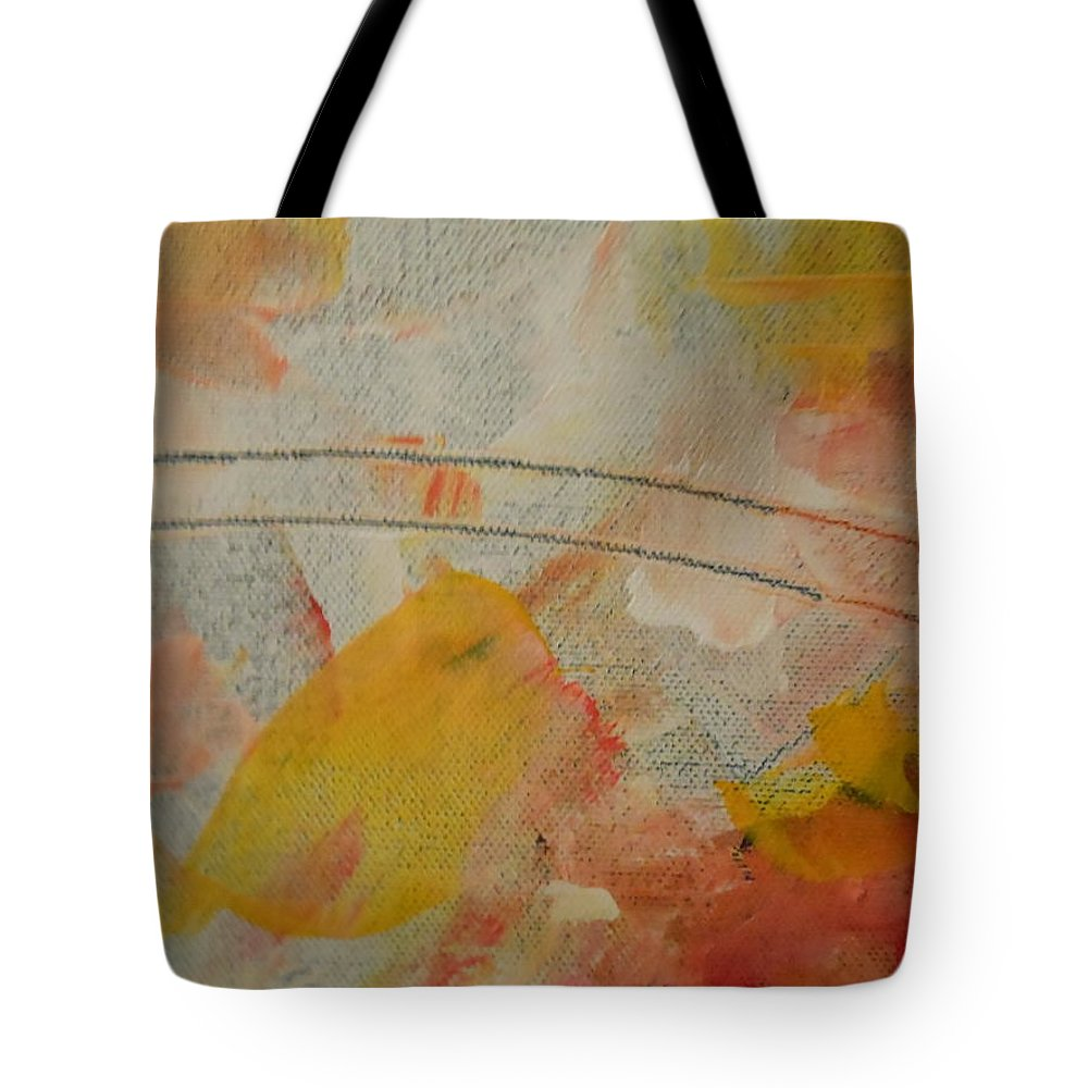 Abstract Tote Bag featuring the painting Bridge by Lord Frederick Lyle Morris - Disabled Veteran