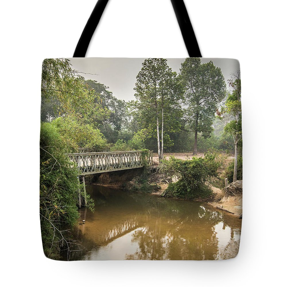 Tranquility Tote Bag featuring the photograph Bridge Over Siem Reap River On The Road by Cultura Exclusive/gary Latham