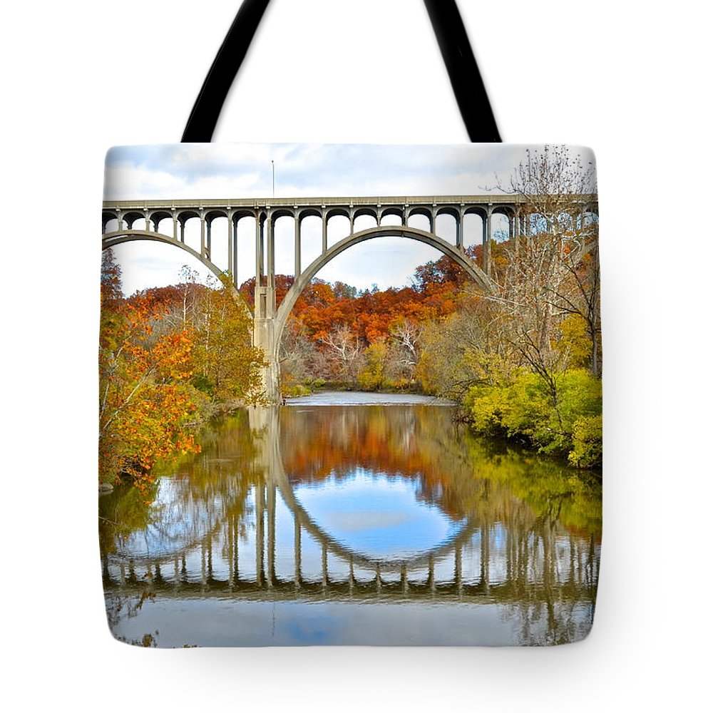 Bridge Tote Bag featuring the photograph Bridge Over The River Kwai by Frozen in Time Fine Art Photography