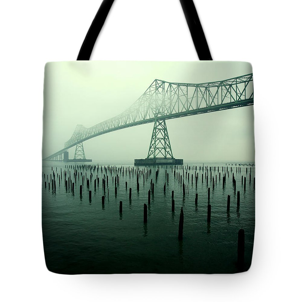 Bridge Tote Bag featuring the photograph Bridge To Nowhere by Todd Klassy