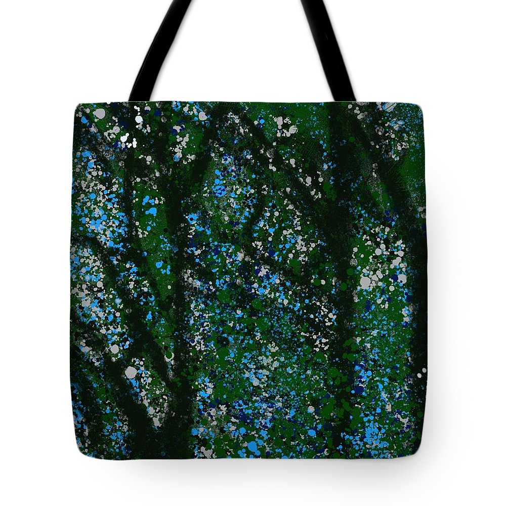 Trees Tote Bag featuring the painting Bright Day by Bill Minkowitz