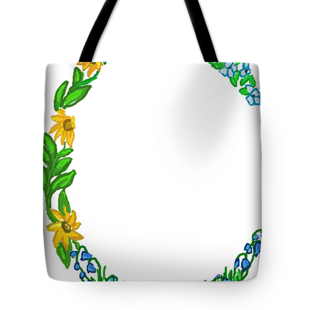 Marriage Tote Bag featuring the painting Bright Fun Colorful Hand Drawn Monogram C by Lea S