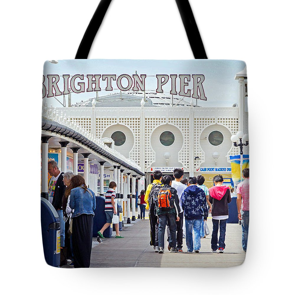 Brighton Tote Bag featuring the photograph Brighton Pier by Keith Armstrong