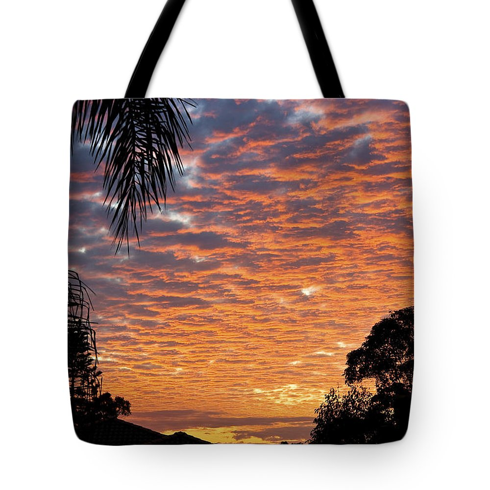 Sun Tote Bag featuring the photograph Brilliant Sunset During Winter by Darren Burton
